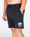 SPLIT PEAK TRACKIE SHORT - BLACK