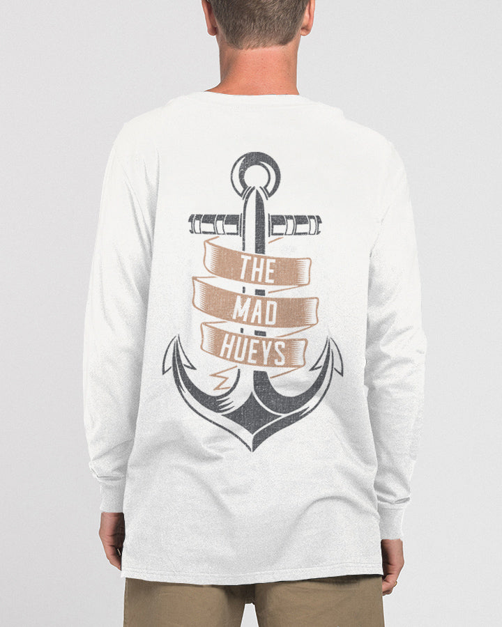 BANNER LONG SLEEVE TEE - WHITE