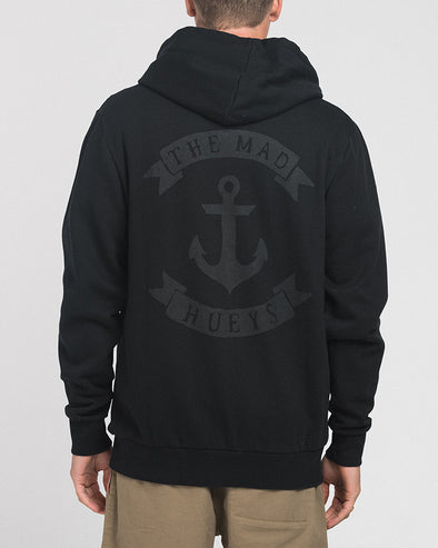 ANCHOR SKETCH ZIP THRU HOOD - WASHED BLACK