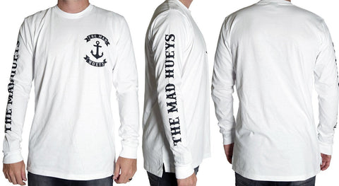 ANCHOR LONG SLEEVE TEE WHITE