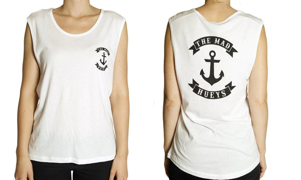 WOMENS ANCHOR MUSCLE WHITE
