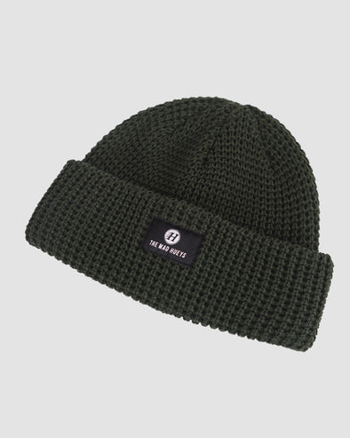 THE BASIC BEANIE - DARK GREEN