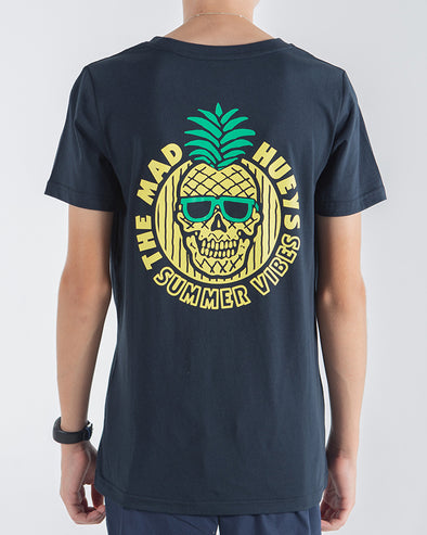 YOUTH SUMMER VIBES SHORT SLEEVE TEE - NAVY