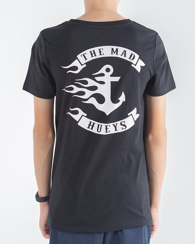 YOUTH FLAMIN ANCHOR SHORT SLEEVE TEE - BLACK