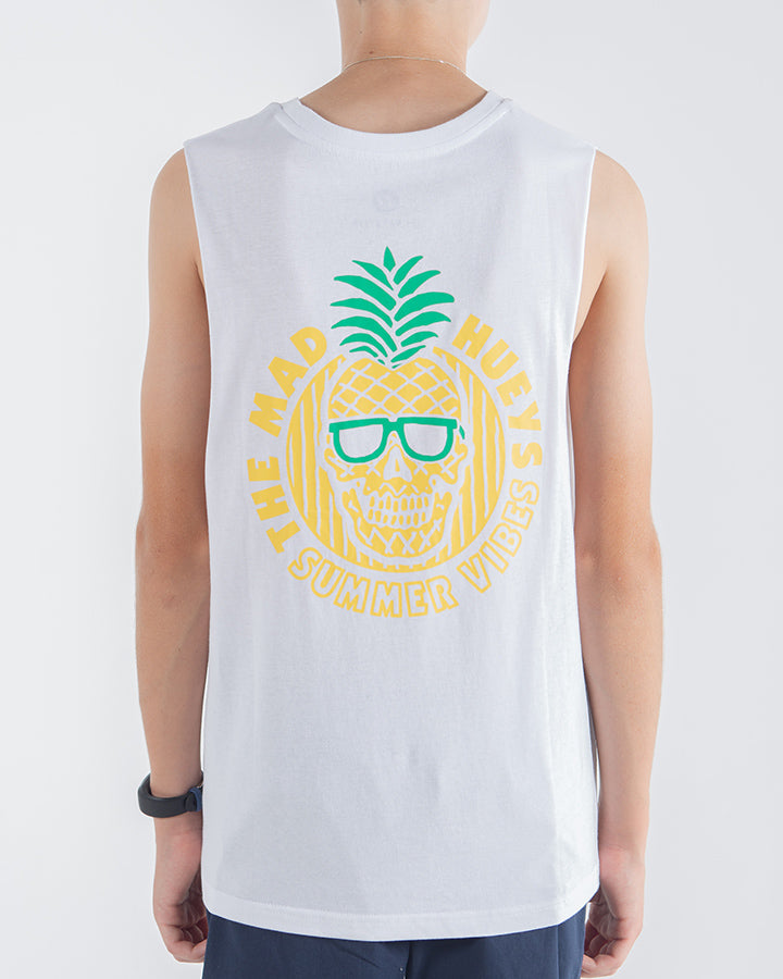 YOUTH SUMMER VIBES MUSCLE - WHITE