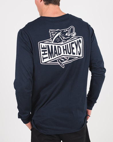 BARRADISE LONG SLEEVE TEE - NAVY