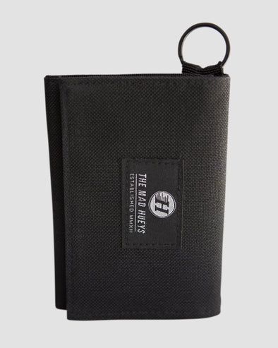BLACKED VELCRO WALLET - BLACK