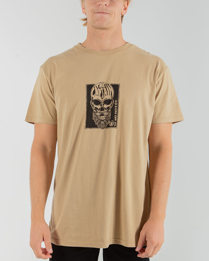 CAPT BONES SHORT SLEEVE TEE - TAN