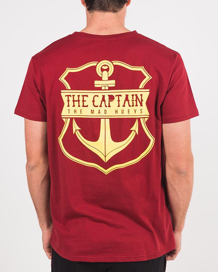 CAPTAIN SHORT SLEEVE TEE - MAROON
