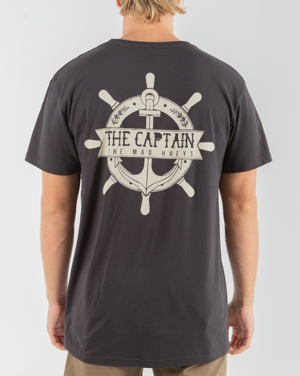 CAPTAIN WHEEL CASTAWAY SHORT SLEEVE TEE - VINTAGE BLACK