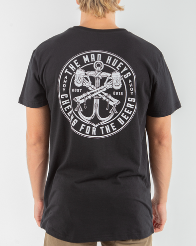 CHEERS SHORT SLEEVE TEE - BLACK