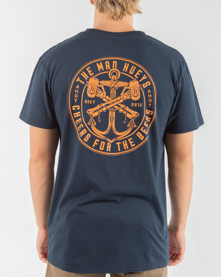 CHEERS SHORT SLEEVE TEE - NAVY