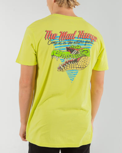 BIG CROC SHORT SLEEVE TEE - YELLOW