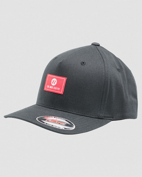 FLAG TWILL FLEXFIT CAP - BLACK
