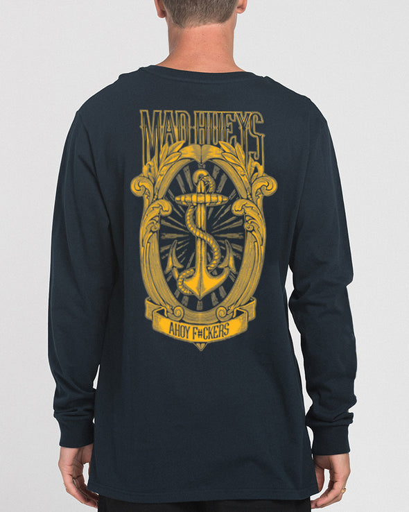 FANCY F*CK LONG SLEEVE TEE - NAVY