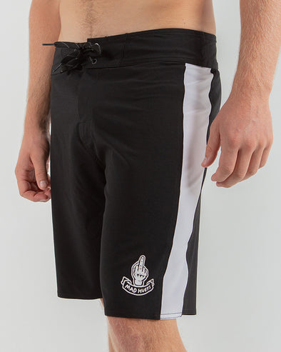 "FINGERD BOARDSHORT 19"" - BLACK/WHITE"