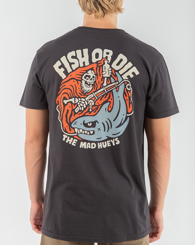 FISH OR DIE SIN SHORT SLEEVE TEE - VINTAGE BLACK