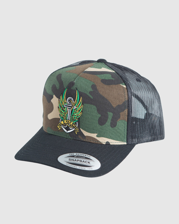 FLY HIGH TWILL TRUCKER - CAMO