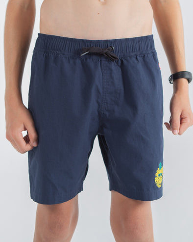 "SUMMER VIBES YOUTH POOLSHORT 14"" - NAVY"
