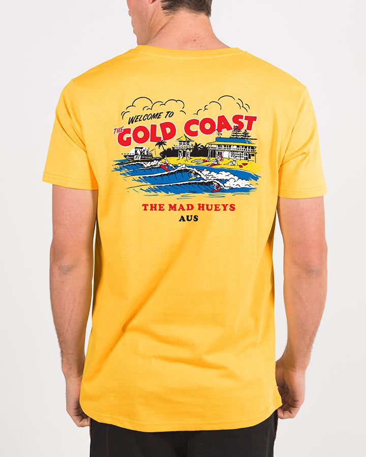 THE GOLD COAST SHORT SLEEVE TEE - YELLOW