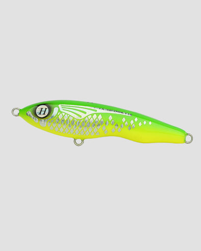 HUEYS LURE - ASWB:SS80/160 SINKING STICKBAIT  - LEMON/LIME