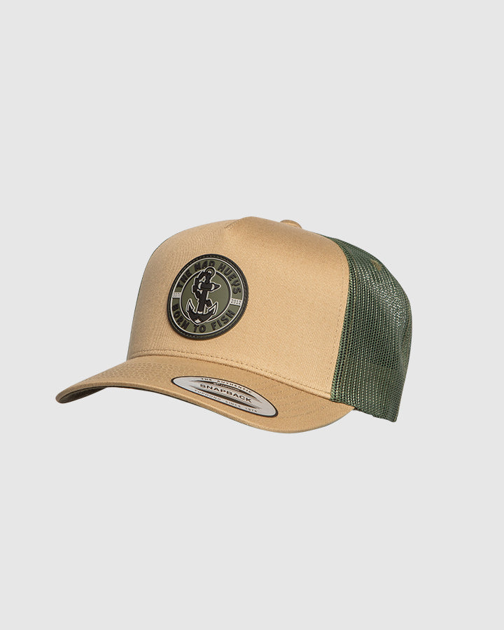 BORN TO FISH II TWILL TRUCKER