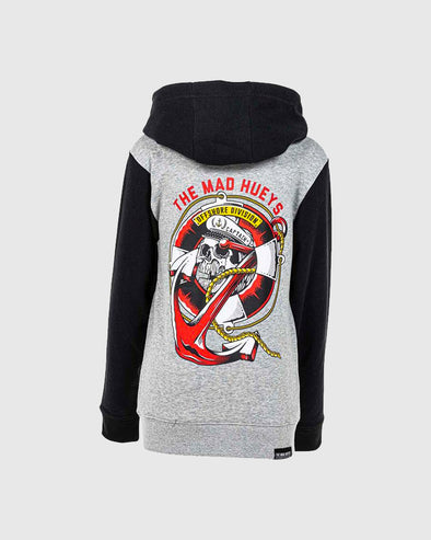SINKING CAPTAIN YOUTH PULLOVER - GREY MARLE