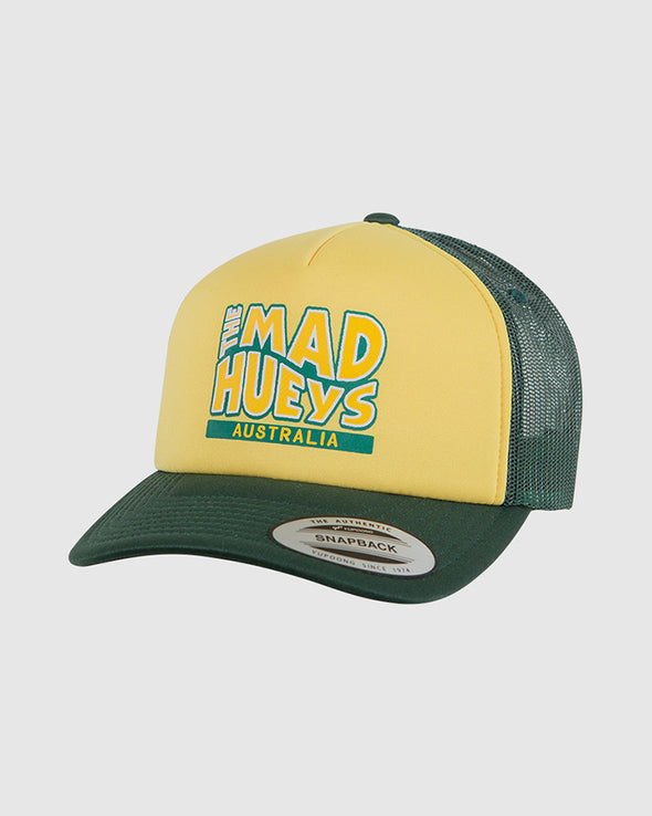HUEYS DAY FOAM TRUCKER - GREEN/YELLOW