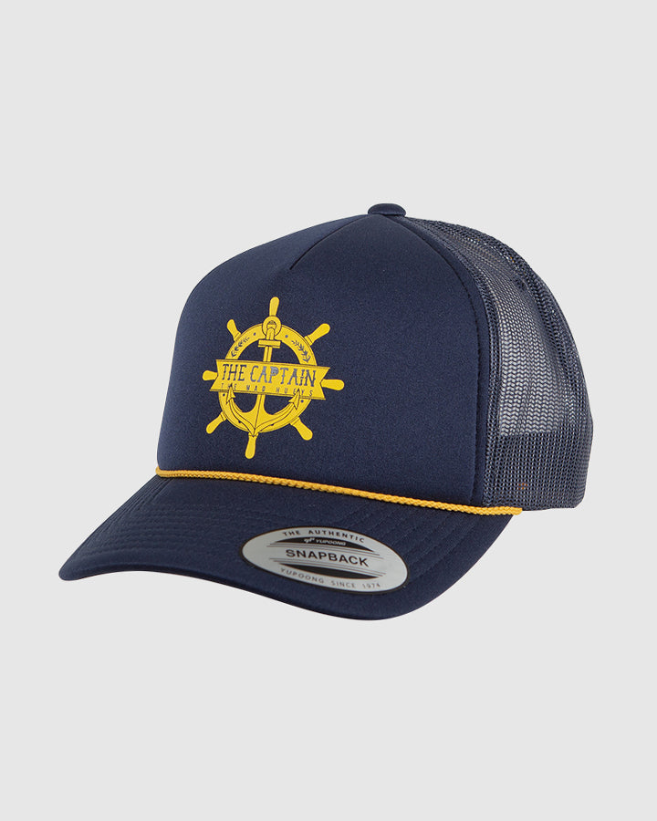 THE CAPTAIN WHEEL FOAM TRUCKER - NAVY
