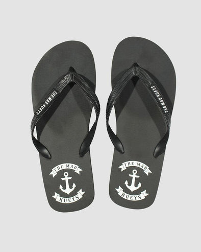 ANCHOR THONG BLACK