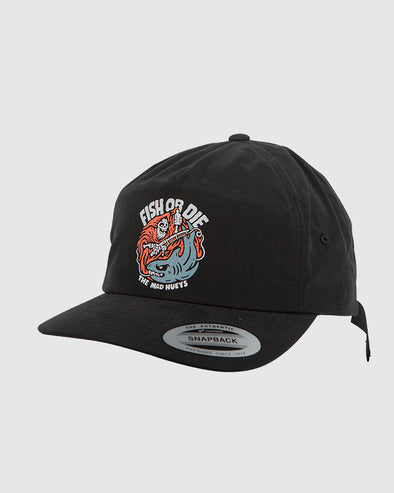 FISH OR DIE SIN STRAPBACK - BLACK