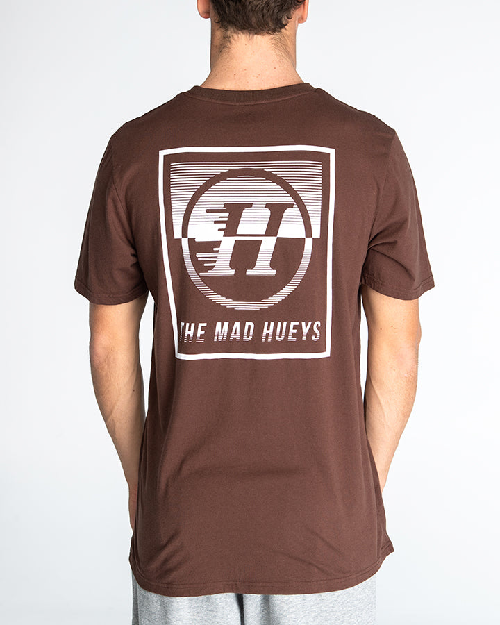 SPLIT PEAK SHORT SLEEVE TEE - PORT