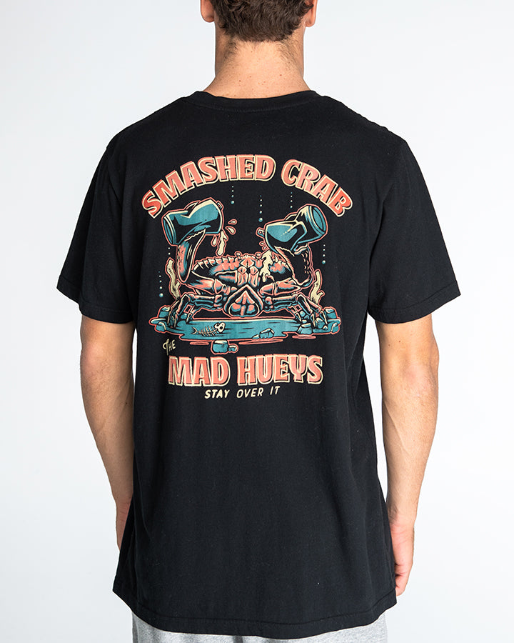 SMASHED CRAB SHORT SLEEVE TEE - BLACK