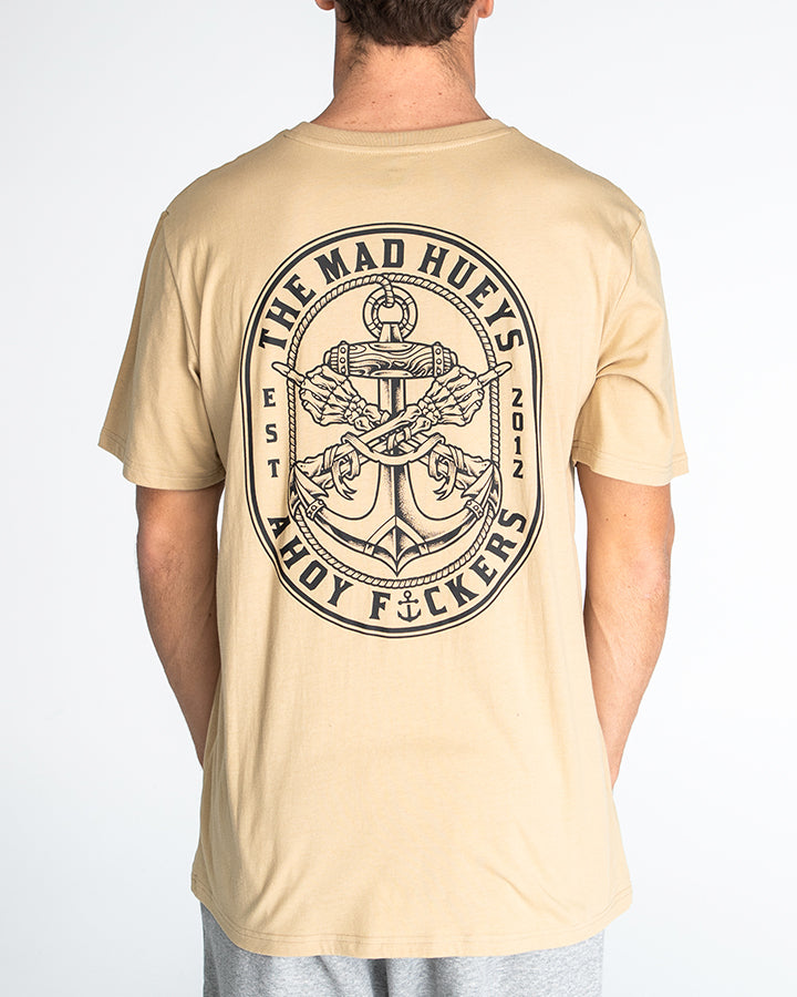 DBL FKD SHORT SLEEVE TEE - TAN
