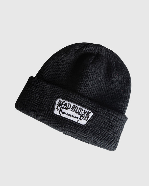 TIMELESS ROLL UP BEANIE - BLACK