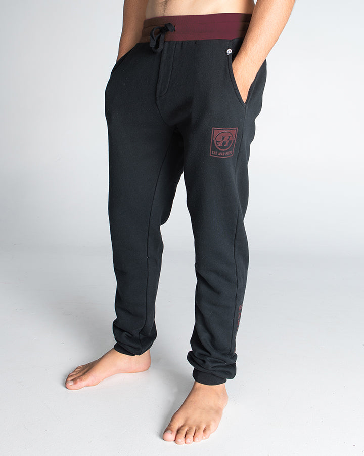 SPLIT PEAK TRACKPANT - BLACK