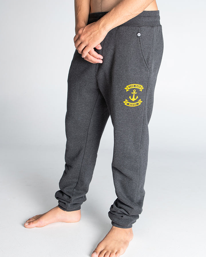 RETRO ANCHOR TRACKPANT  - CHAR MARLE