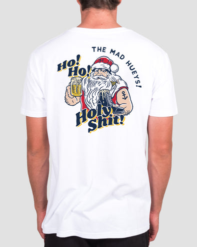 HO HO HOLY SHIT SS TEE - WHITE