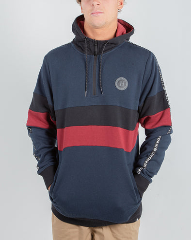 ZEPHYR LEE HALF-ZIP PULLOVER - NAVY