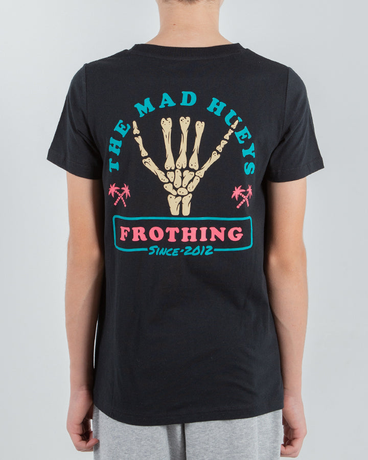 FROTHING YOUTH SHORT SLEEVE TEE - BLACK