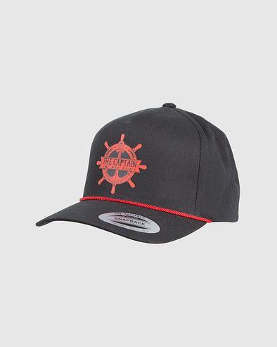 CAPTAIN WHEEL TWILL SNAPBACK - BLACK