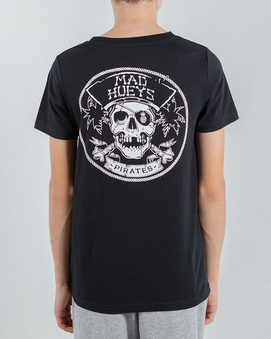 PIRATE LIFE YOUTH SHORT SLEEVE TEE - BLACK