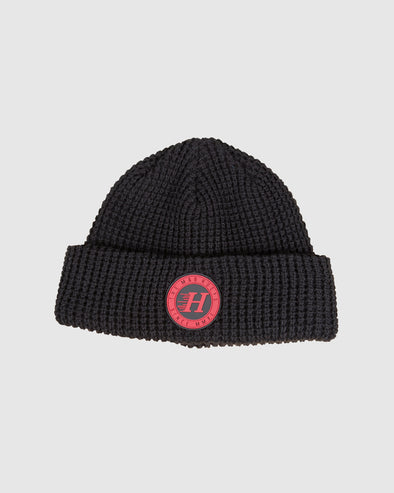 SOLID BEANIE - BLACK