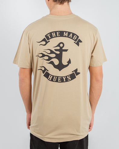 FLAMIN ANCHOR SHORT SLEEVE TEE - TAN