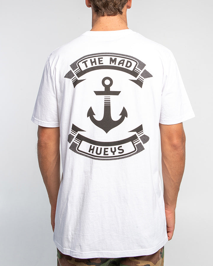 RETRO ANCHOR SHORT SLEEVE TEE - WHITE