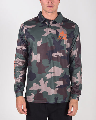 CAMO UV LONG SLEEVE FISHING JERSEY - CAMO