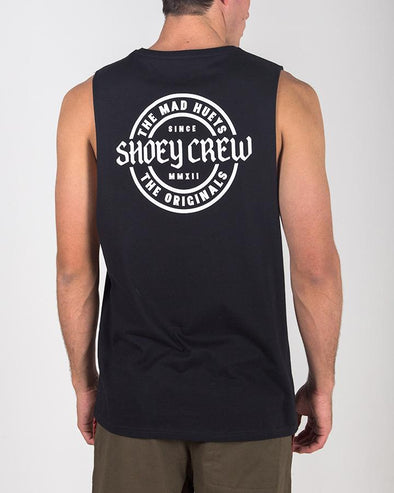 SHOEY CREW MUSCLE BLACK