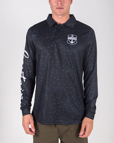CAPTAIN FISHING JERSEY - CHARCOAL