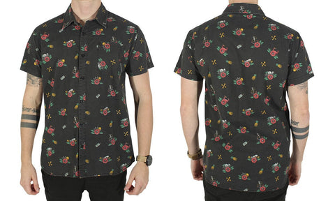JOLLY ROGERING S/S SHIRT BLACK