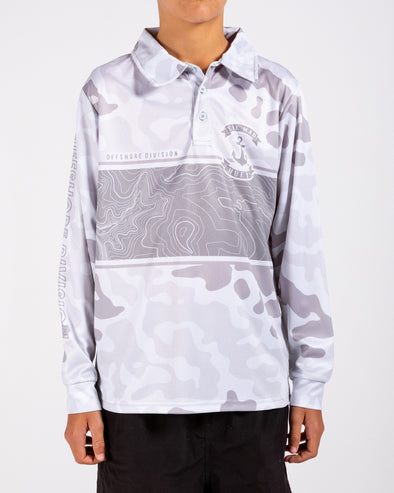 MAD MARLIN CAMO YOUTH UV LS FISHING JERSEY